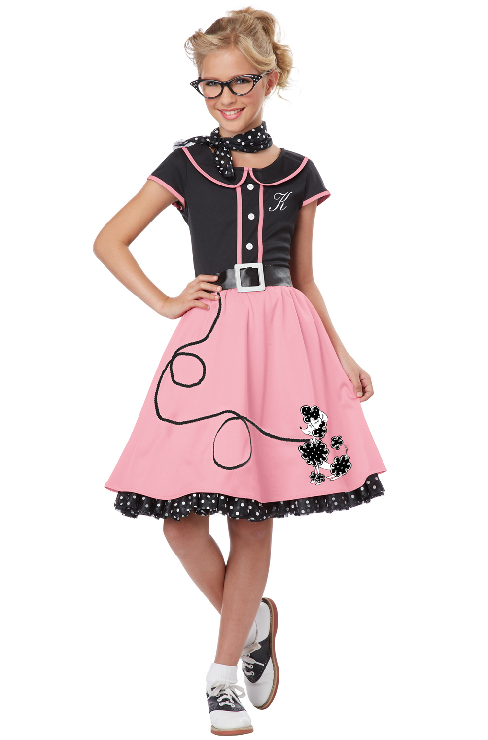 50 Halloween Hair And Makeup Tutorials: 50's Sweetheart Child Costume (Black/Pink)