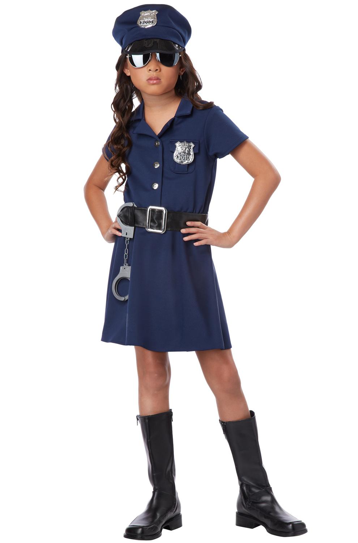 Police officer girl patrol child halloween costume ebay - Police officer child costume ...