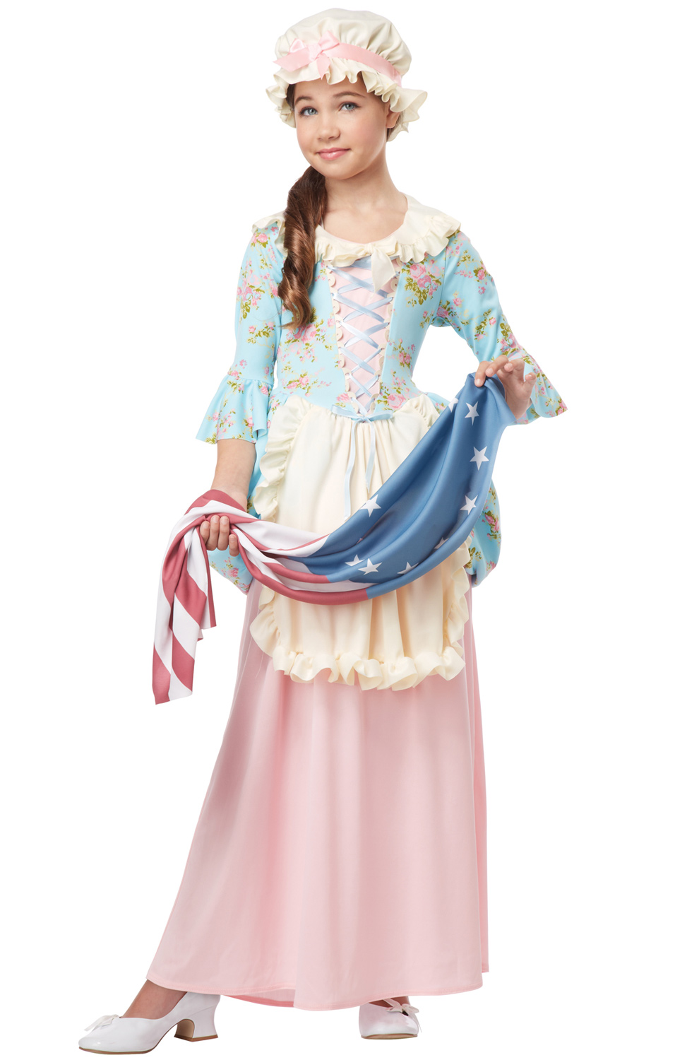Betsy Ross Colonial Lady Child Costume Purecostumes Com