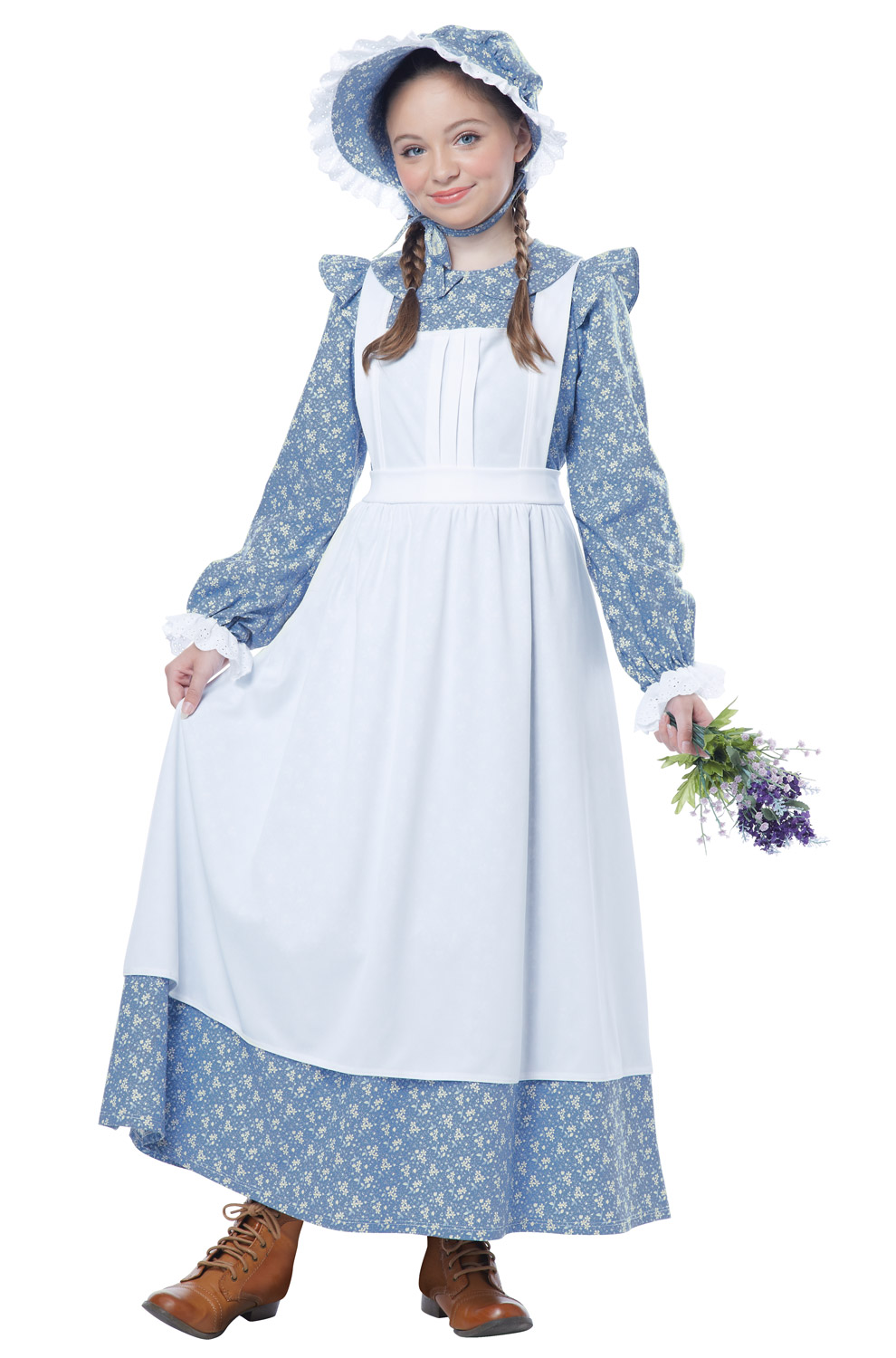 Colonial Pioneer Girl Outfit Child Costume | eBay