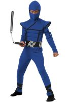 Stealth Ninja Child Costume (Blue)