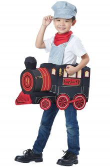 COVID-19-Appropriate costumes All Aboard! Toddler Costume