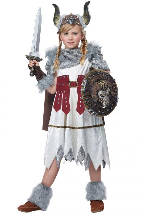 Valorous Viking Girl Child Costume  sc 1 st  Pure Costumes & Valorous Viking Girl Child Costume - PureCostumes.com