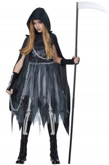 COVID-19-Appropriate costumes Reaper Girl Child Costume