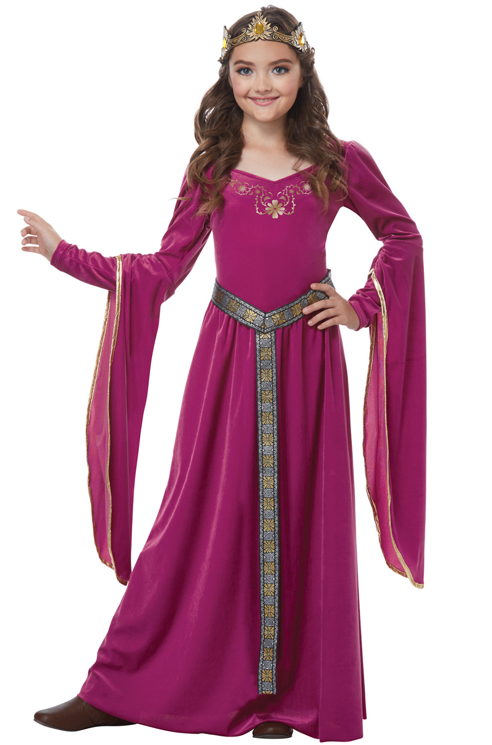 Blushing Medieval Princess Child Costume Purecostumes Com