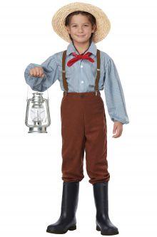 Home School Historical Costumes Pioneer Boy Child Costume