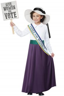 Home School Historical Costumes American Suffragette Child Costume