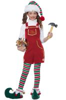 Toymaker Elf Girl Child Costume