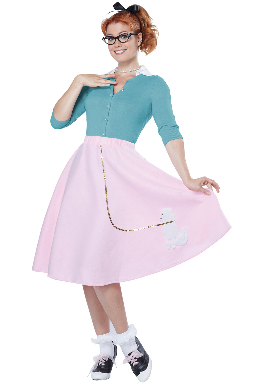 4905cca757fa Poodle Skirt Adult Costume - PureCostumes.com