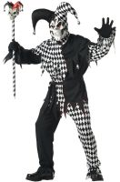 Evil Jester Adult Costume (Black/White)