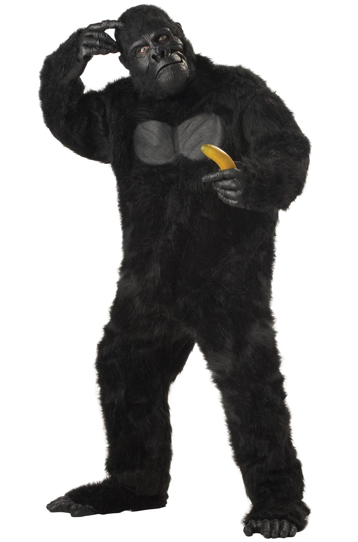 Brand New Gorilla King Kong Men Suit Adult Halloween Costume   eBay