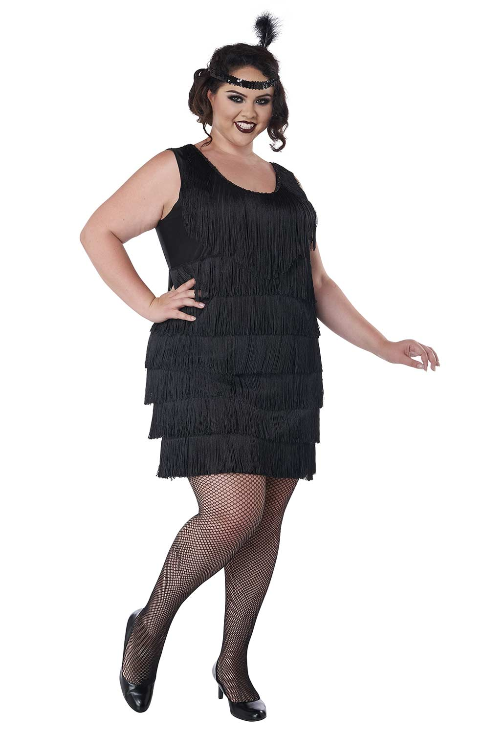 Plus Size Fashion Flapper Costume Black Purecostumes Com