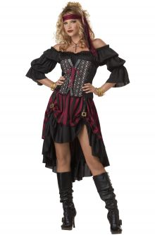 Expensive vs Affordable Costumes Pirate Wench Adult Costume