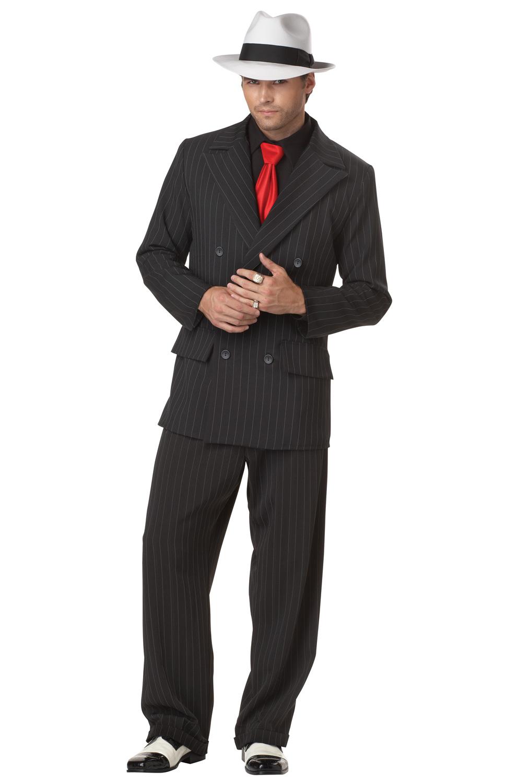 Mob Boss Mafia Al Capone Gangster Style Adult Men Costume | eBay
