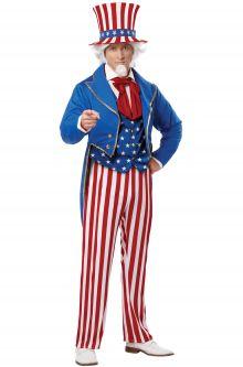 Patriotic Uncle Sam Adult Costume