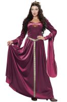 Lady Guinevere Adult Costume (Wine)