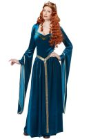 Lady Guinevere Adult Costume (Teal)