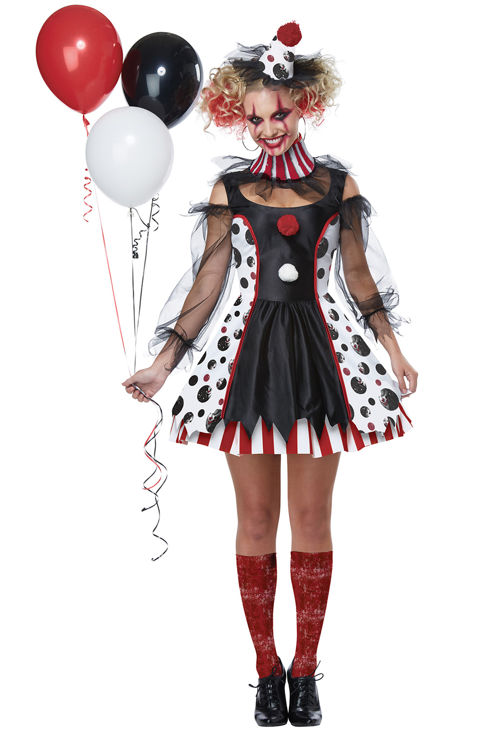 Twisted Clown Adult Costume - PureCostumes.com