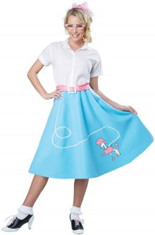 50s blue poodle skirt adult costume