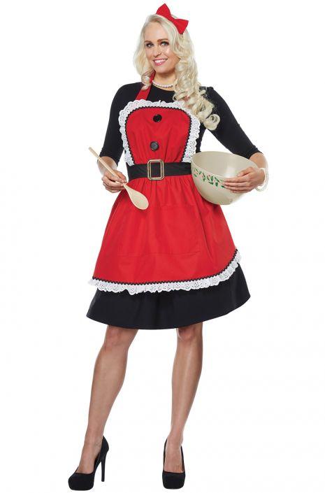 Mrs Claus Apron Adult Costume Purecostumes