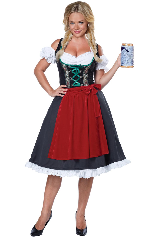 classic traditional oktoberfest german fraulein dress. Black Bedroom Furniture Sets. Home Design Ideas