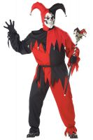 Plus Size Wicked Evil Jester Costume