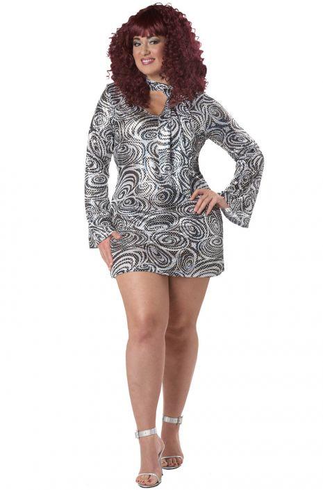 Plus Size Disco Diva Costume Purecostumes