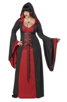 Deluxe Hooded Robe Plus Size Costume (Red)
