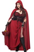 Dark Red Riding Hood Plus Size Costume