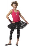 Ruffled Pettiskirt Tween Accessory (Black)
