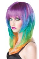 Kaleidescope Costume Wig (Multi)