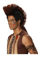 Indian Warrior Costume Wig (Auburn/Black)