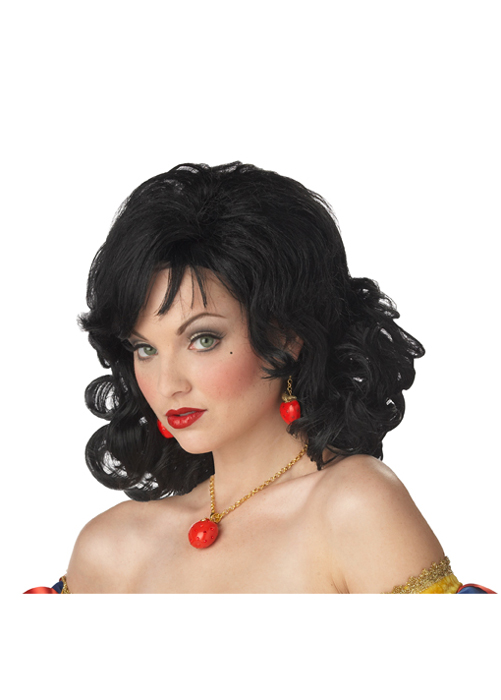 Snow White Costumes For Girls. Snow White Costume Wig - Black