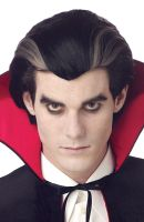 Modern Vampire Costume Wig (Black/Grey)