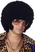 Afro Chops Costume Wig (Black)