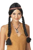 Indian Maiden Costume Wig - Black