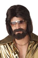 Sexy 70's Man Adult Wig Beard and Moustache