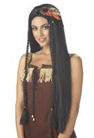 Sexy Indian Princess Costume Wig - Black