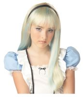 Alice Costume Wig - Blonde/Blue