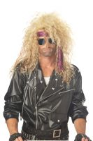 Heavy Metal Rocker Costume Wig - Blonde