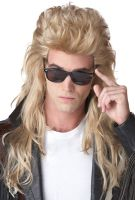 80's Rock Mullet Costume Wig (Blonde)
