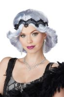 20s Glitz and Glamour Wig and Headband (Lavender/Grey)