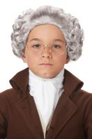 Child Colonial Peruke Wig (Gray)