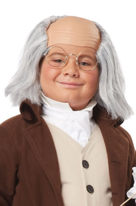 Child Benjamin Franklin Wig (Gray)  sc 1 st  Pure Costumes : ben franklin costume ideas  - Germanpascual.Com