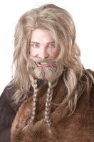 Viking Costume Wig and Beard (Dirty Blonde)