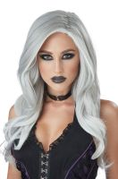 Gray and White Fatal Beauty Adult Wig