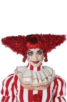 Creepy Clown Adult Wig (Red)