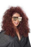 3/4 Curly Fall Adult Wig (Burgundy)