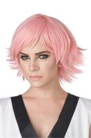 Feathered Cosplay Adult Wig (Rose Pink)