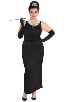 3374bc5eb8 Breakfast At Tiffanys Holly Golightly Plus Size Costume